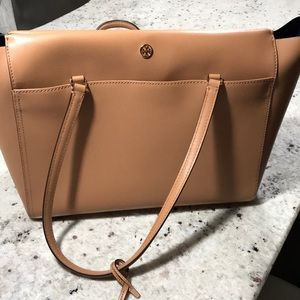 Brown tory Burch Parker tote